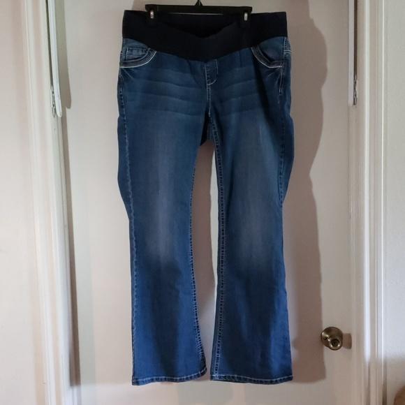 Indigo Blue Denim - Indigo Maternity Jeans